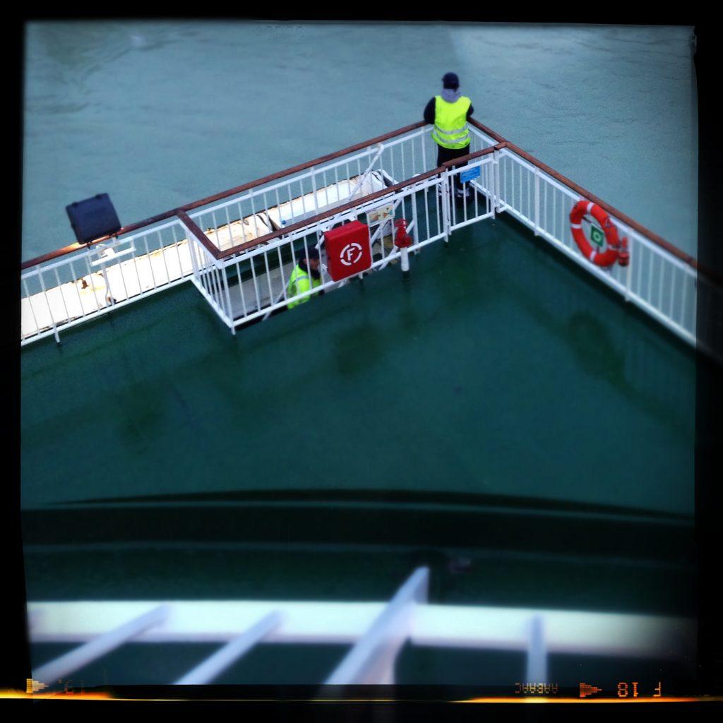 Depart du ferry depuis le port de Dieppe (France)