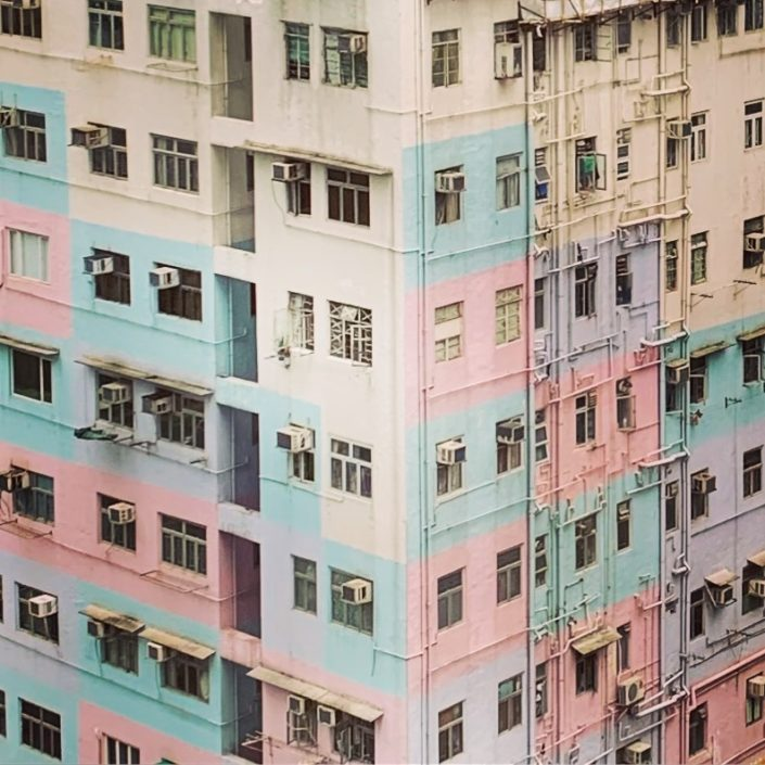 Hong Kong Buildings with Colors