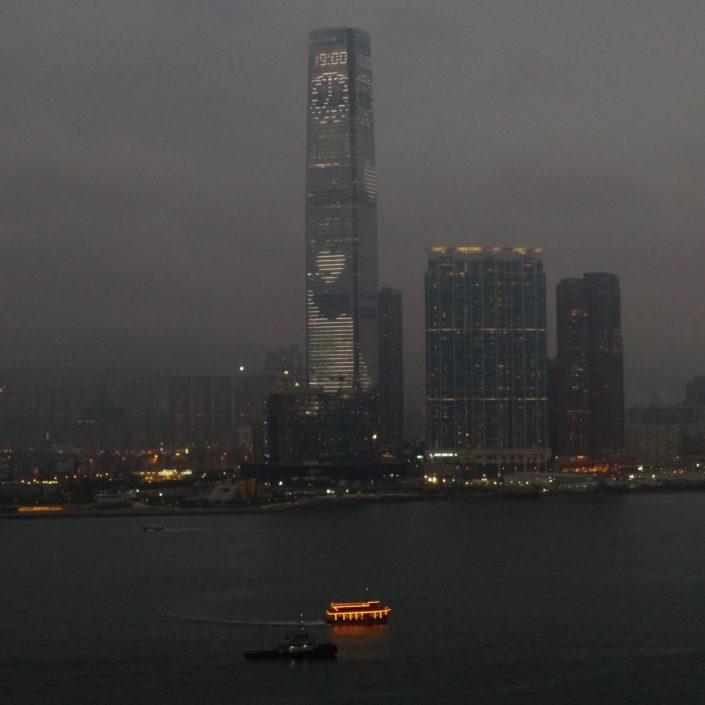 Hong Kong Central by Night