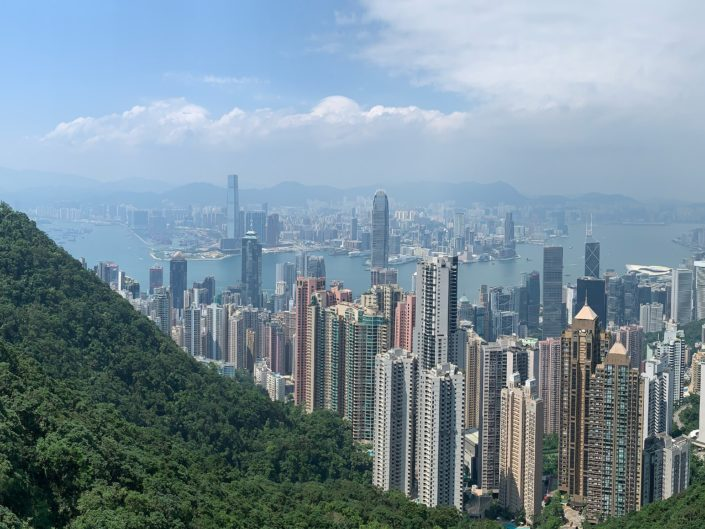 Hong Kong entre buildings et verdure